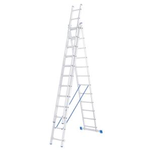 Лестница трёхсекционная алюминиевая двенадцатиступенчатая