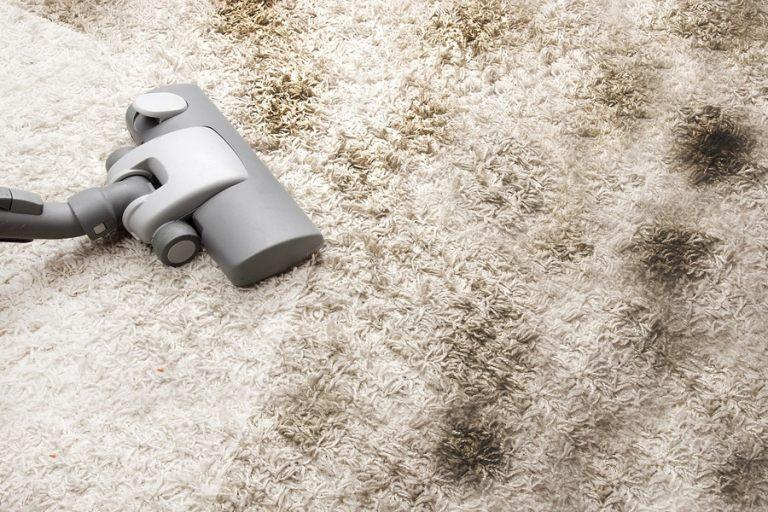 Vacuuming very dirty carpet
